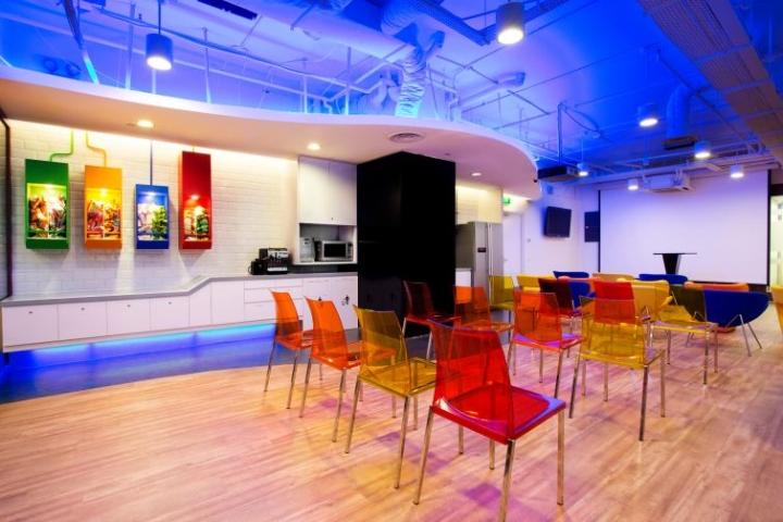 Прозрачные стулья в офисе