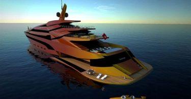 Проект раскошной быстроходной яхты IWANA