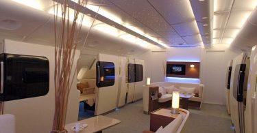 Проект лайнера Qantas A380 - роскошный интерьер