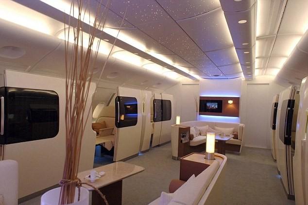 Проект лайнера Qantas Airbus 380: великолепный дизайн общего зала