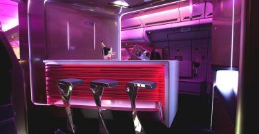 Проект необычного футуристического бара в самолёте
