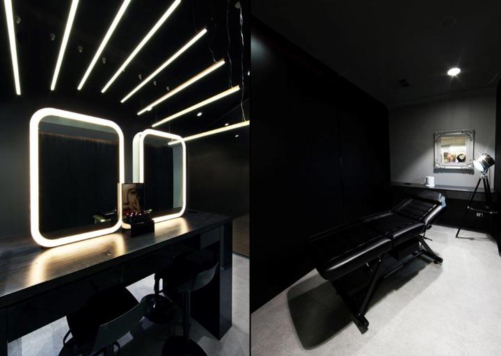 Оригинальный дизайн зеркал в интерьере салона красоты