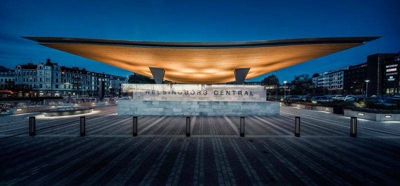 Уникальный проект железнодорожного вокзала Хельсингборга, Швеция