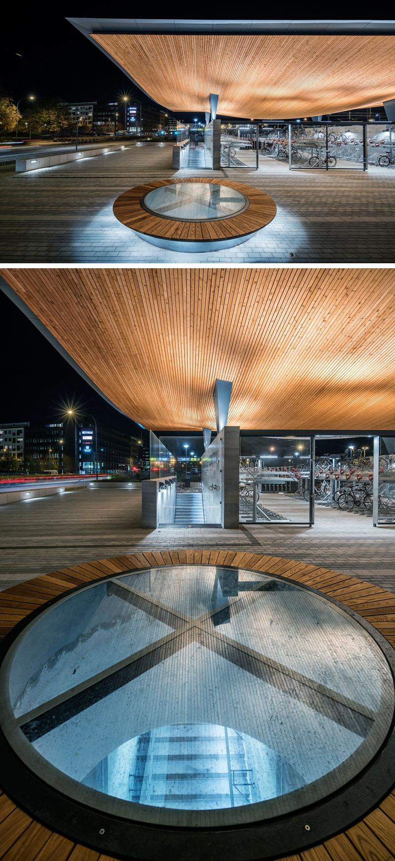 Уникальный проект железнодорожного вокзала Хельсингборга, Швеция: прозрачные люки