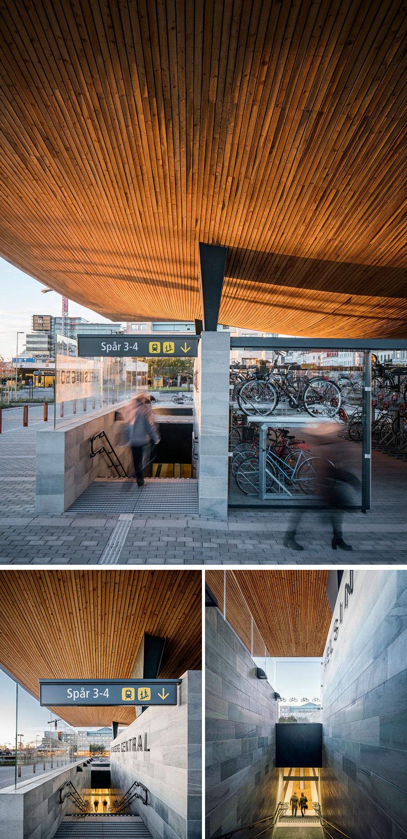Уникальный проект железнодорожного вокзала Хельсингборга, Швеция: лестницы
