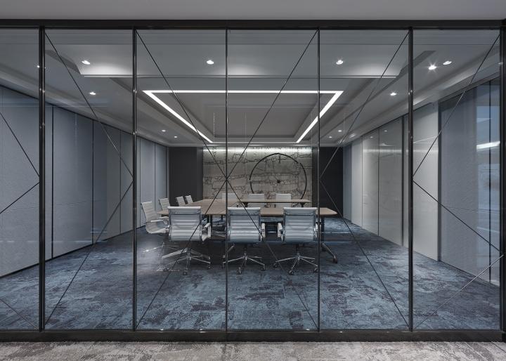 Проектирование интерьера офиса: канференц-зал с передвижными перегородками