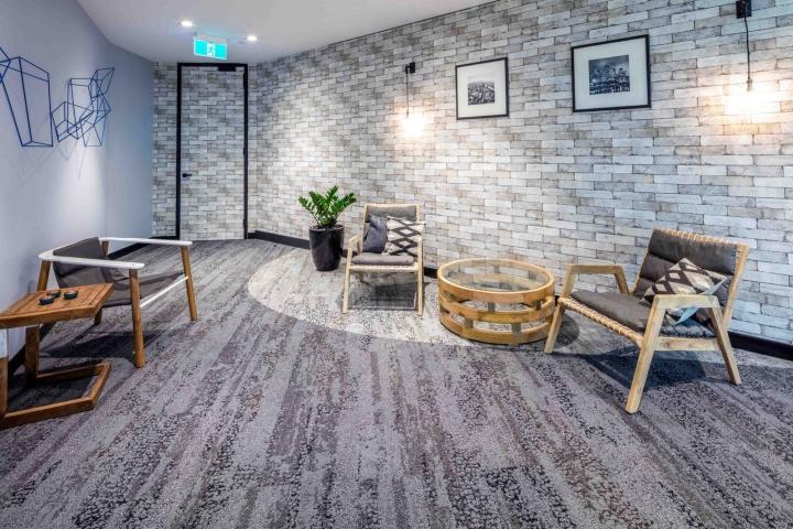 Растения в интерьере офиса Dexus Palace: зона отдыха