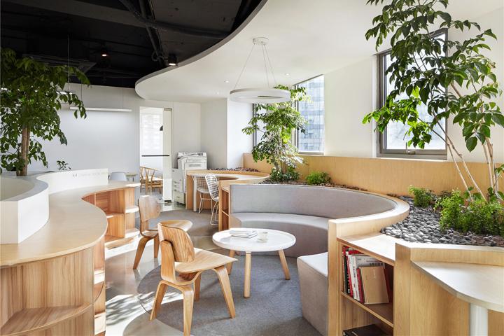 Растения в интерьере офиса от Muxin Design