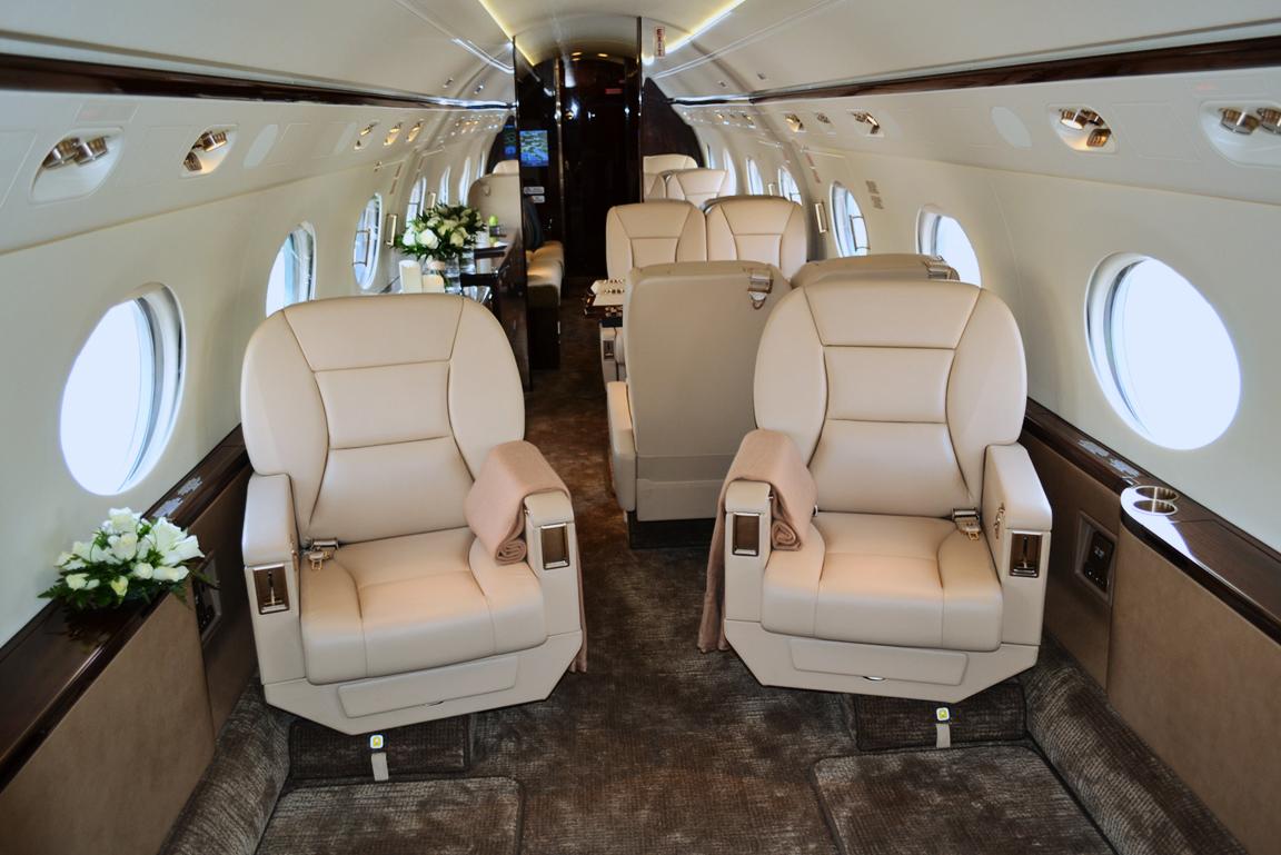 Салон реактивного самолёта  Gulfstream G450