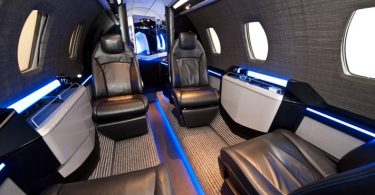 Роскошный частный самолёт бизнес-класса