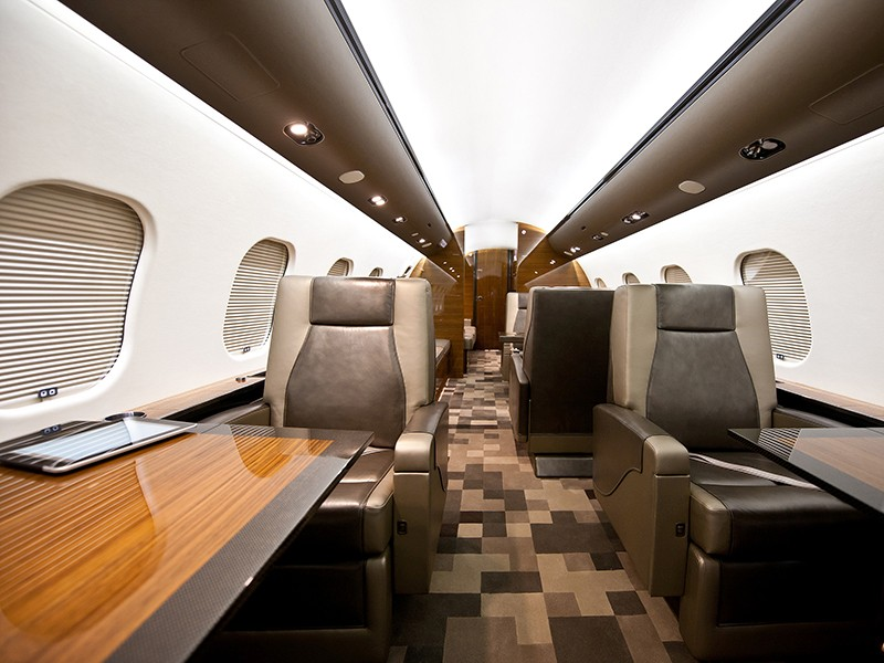 Роскошный самолёт бизнес-джет Bombardier Global 6000 - фото 8