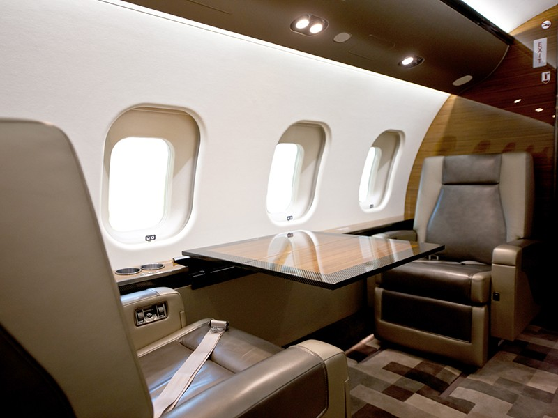Роскошный самолёт бизнес-джет Bombardier Global 6000 - фото 9