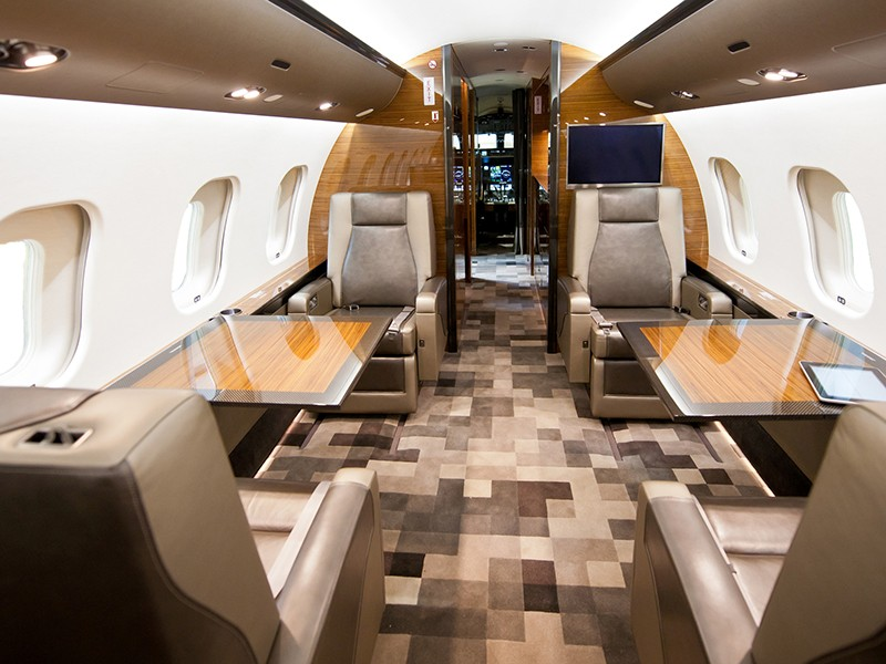 Роскошный самолёт бизнес-джет Bombardier Global 6000 - фото 11