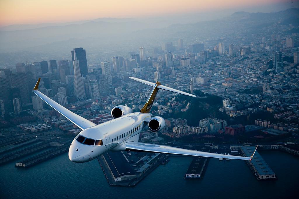 Роскошный самолёт бизнес-джет Bombardier Global 6000 - фото 14