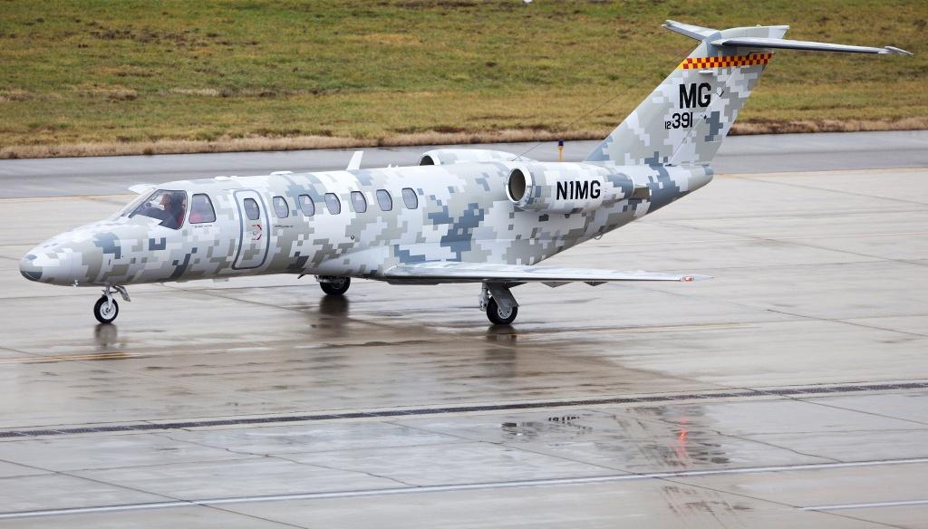 Самолёт бизнес-джет Cessna 525B Citation CJ3 с мощными двигателями