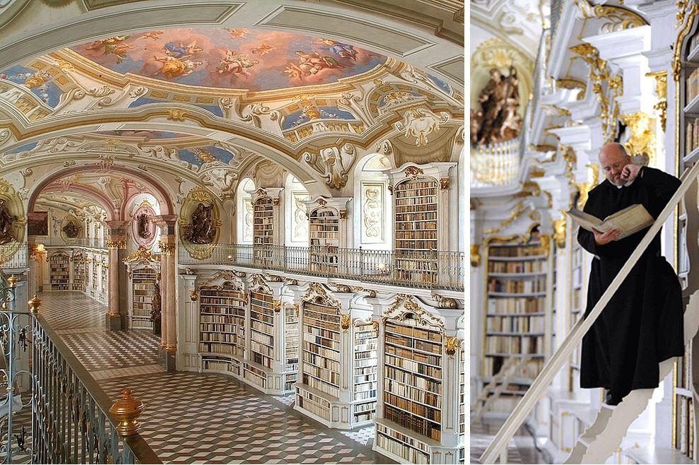 Самые потрясающие библиотеки мира: Бенедиктинский монастырь Адмонт