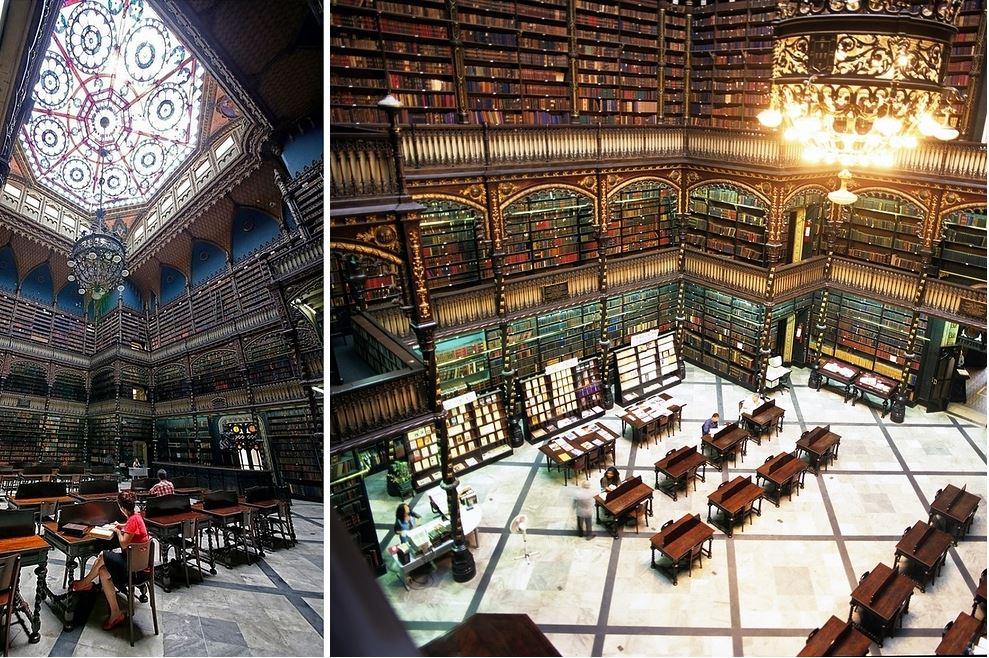 Самые потрясающие библиотеки мира: Португальский читальный зал