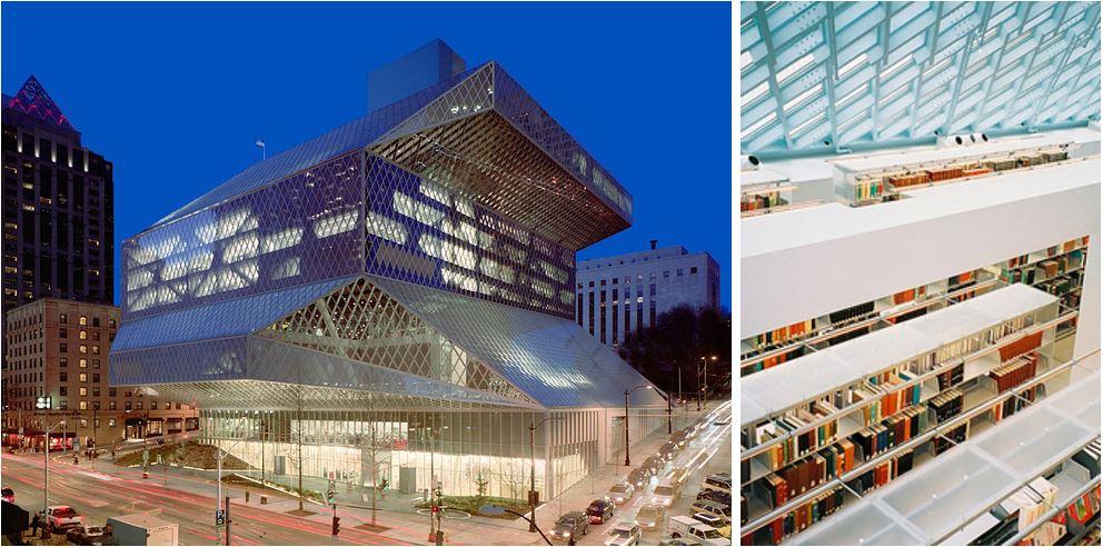 Самые потрясающие библиотеки мира: Центральная библиотека Сиэтла