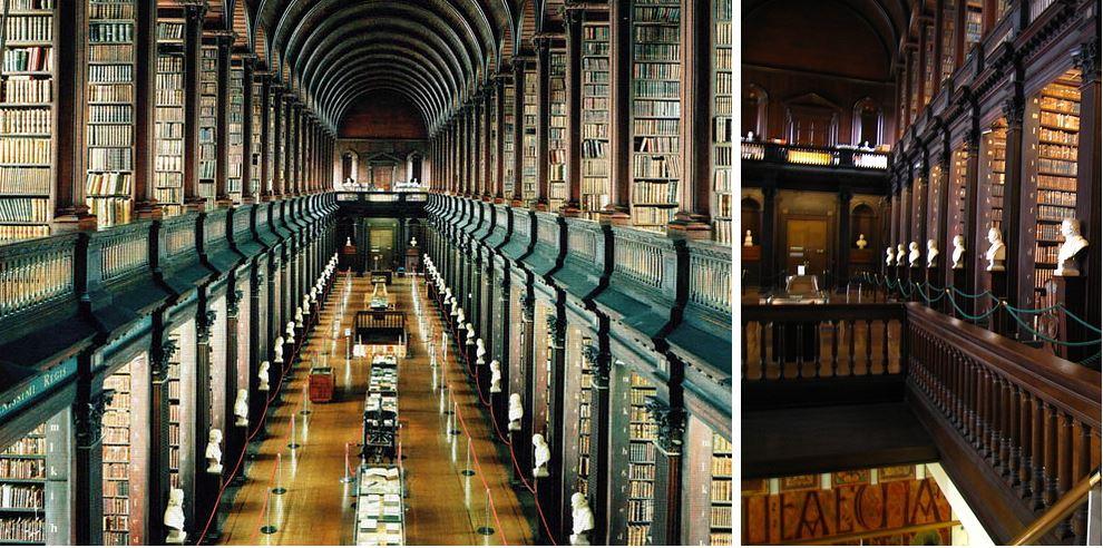 Самые потрясающие библиотеки мира: Тринити-колледж библиотеки университета Дублина