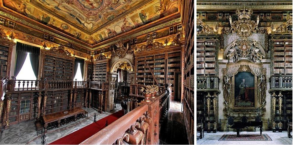 Самые потрясающие библиотеки мира: Университет Коимбра