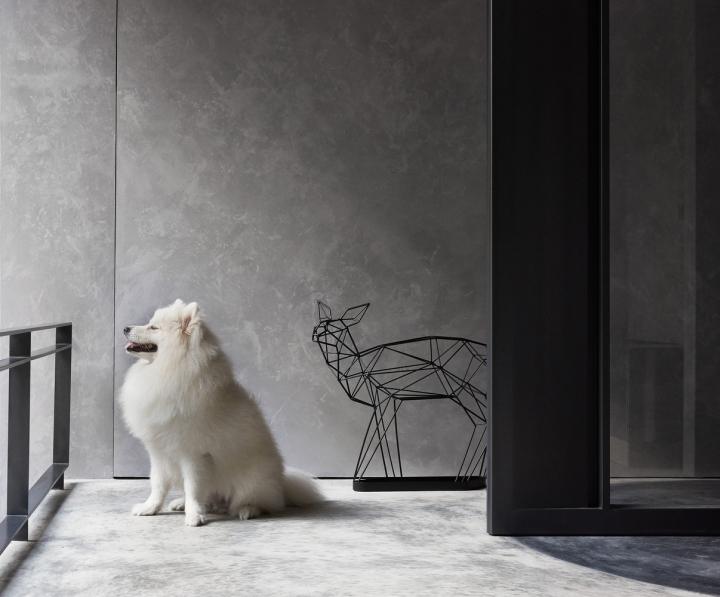 Серый цвет офиса в Тайване: декор интерьера