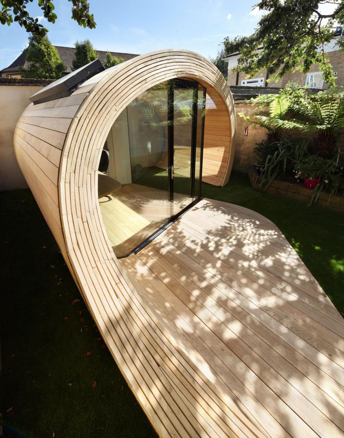 Оригинальный павильон Shoffice от компании Platform 5 Architects