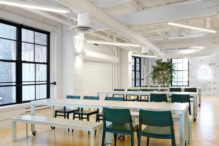 Дизайн интерьера офиса компании Shopify, Торонто