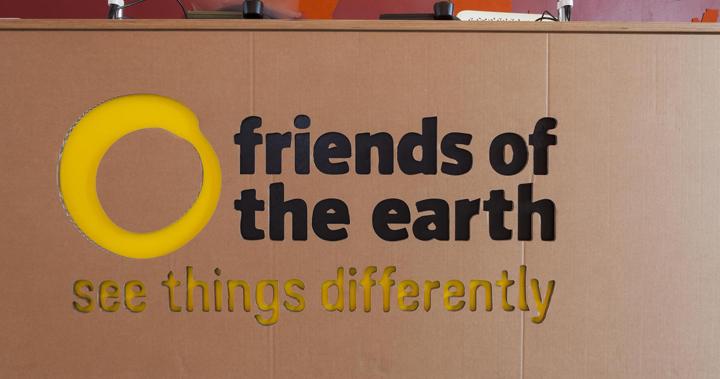 Интересное оформление офиса компании Friends Of The Earth