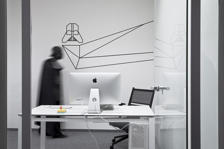Тема звездный войн в дизайне офиса