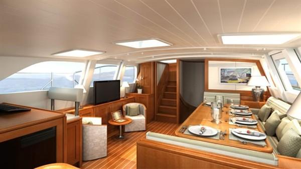 Интерьер скоростной яхты Kestrel 106