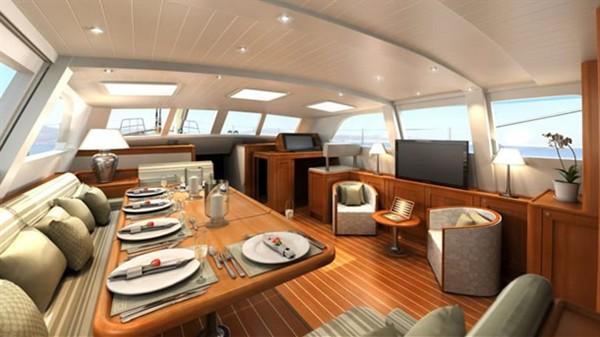 Салон скоростной яхты Kestrel 106
