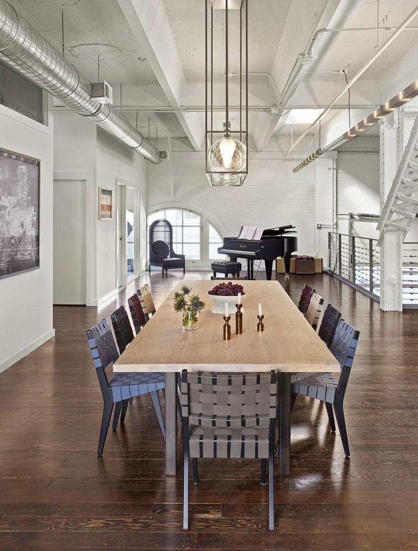 Столовая апартаментов SOMA Live/Work в США