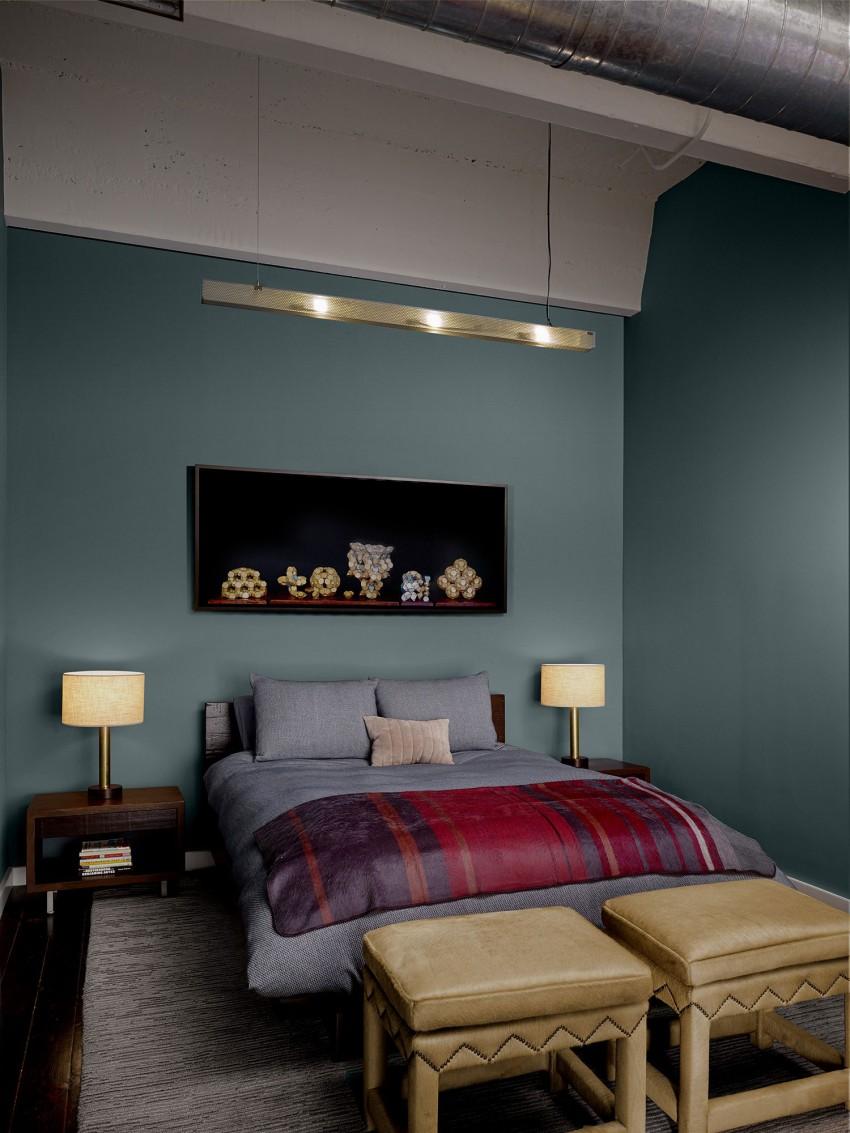 Спальня апартаментов SOMA Live/Work в США