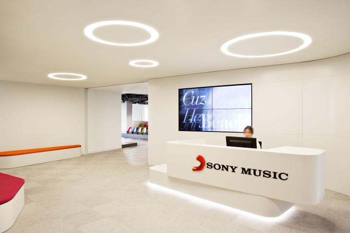 Ресепшен офиса Sony Music HQ в Испании