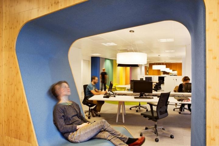 Место для отдыха в  офисе Sony Music в Мадриде