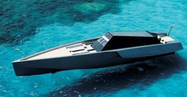 Необычная современная яхта Wallypower в стиле милитари