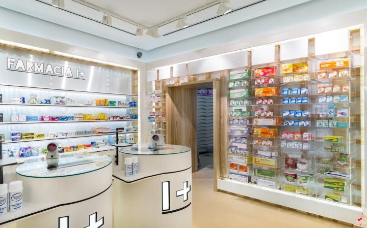 Современный дизайн аптеки: оформление витрин