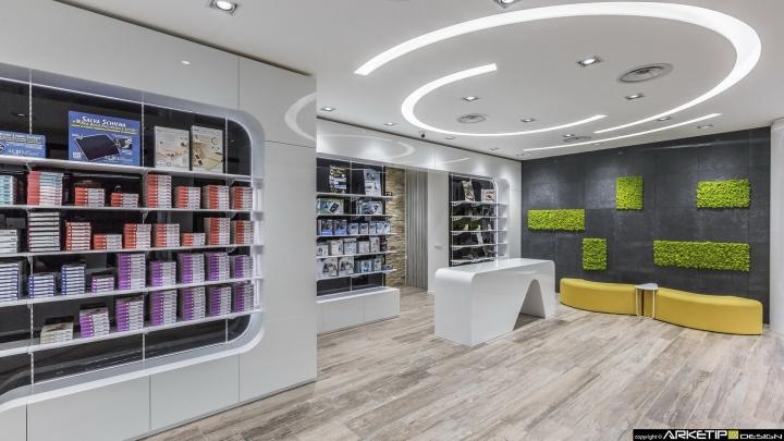 Современный дизайн для  аптеки: внутреннее убранство