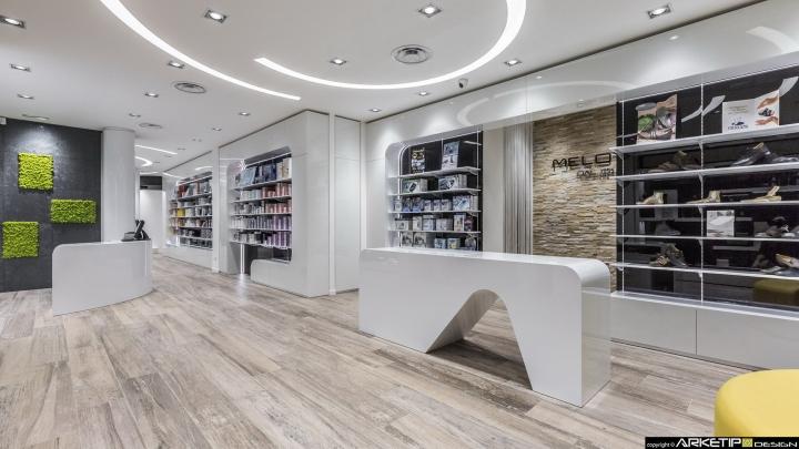 Современный дизайн для  аптеки: дизайн стойки