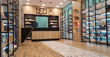 Современный дизайн для аптеки от греческих дизайнеров