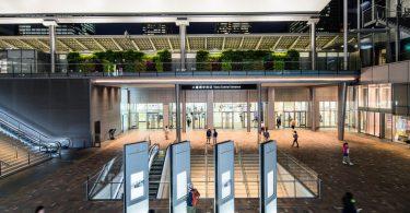 Интерьер вокзала в Токио: совершенство форм и материалов