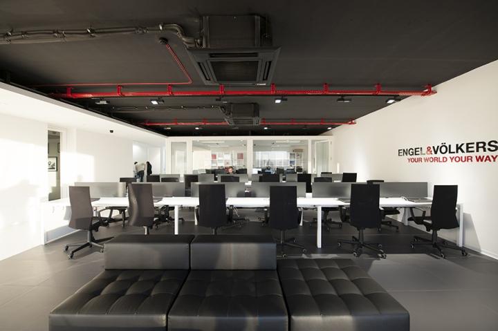 Современный стиль в интерьере офиса. Рабочие места