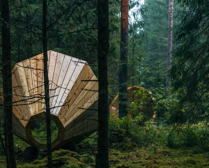 Дизайн деревянного конуса для отдыха - Фото 2