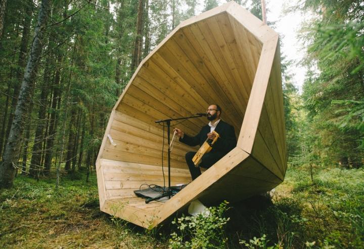 Дизайн деревянного конуса для отдыха - Фото 8