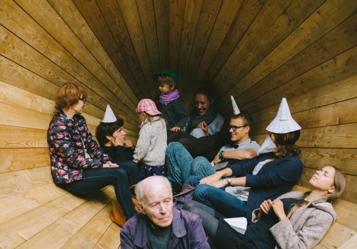 Дизайн деревянного конуса для отдыха - Фото 12