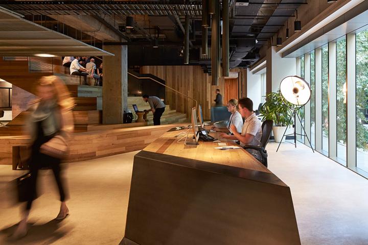 Создание интерьера офиса от Woods Bagot