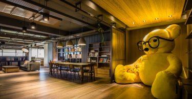 Созданием интерьера офиса для студии дизайна A.design в Тайбэй (Тайвань)