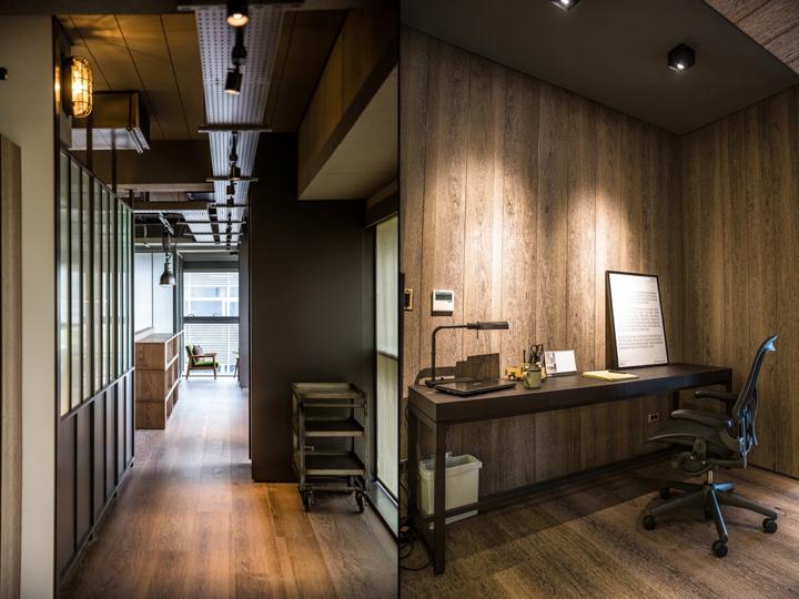 Создание интерьера офиса: чёрные рабочие столы