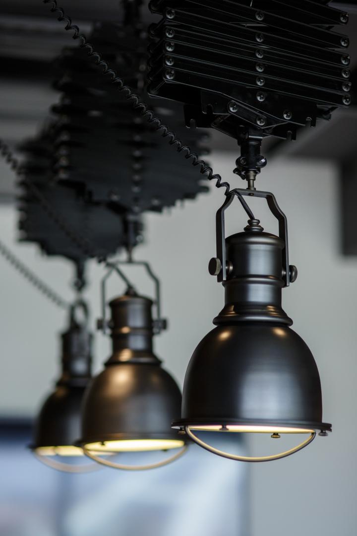 Создание интерьера офиса: индустриальные светильники