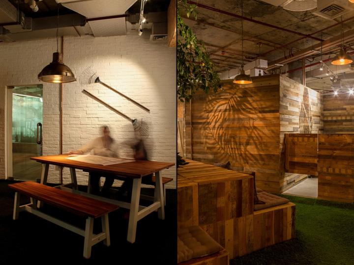 Создание интерьера офиса: преимущественно использовалось дерево